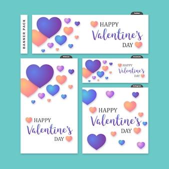 Social media banner for valentines day