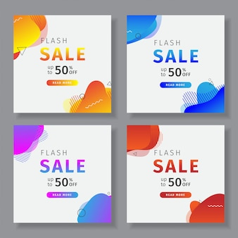 Social media banner with a flash sale theme