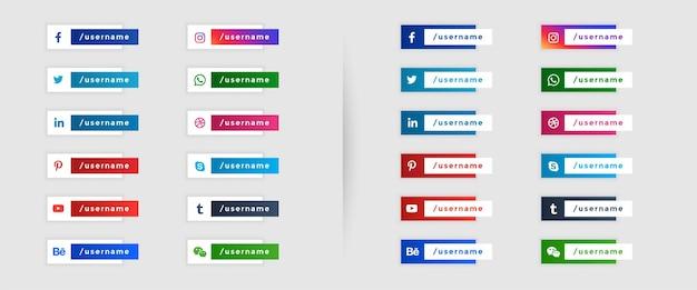 더 낮은 세 번째 스타일의 소셜 미디어 배너 템플릿