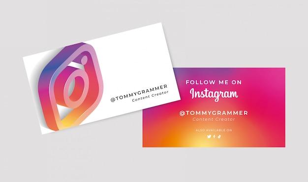 Визитная карточка в социальных сетях 3d