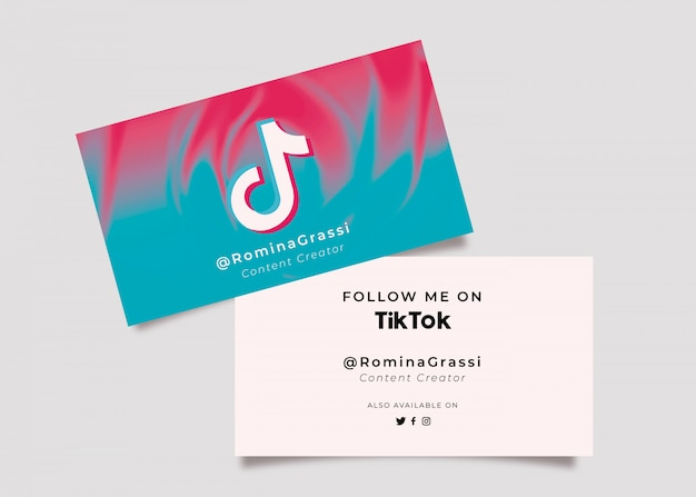 Social media business card with icon