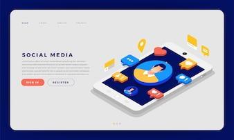 Social Media Cocept