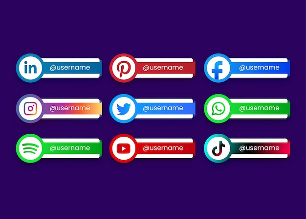 Social media collection buttons