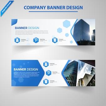 Social media company banner abstract modern design