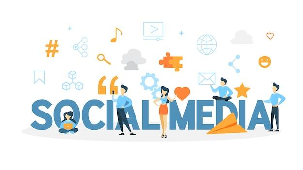 소셜 미디어 개념.