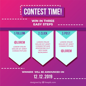 Social media contest or giveaway concept