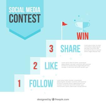Social media contest steps