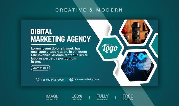 Обложка в социальных сетях и векторный шаблон веб-баннера