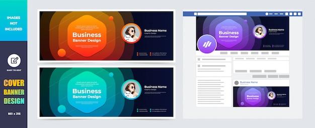Social media cover  banner design template