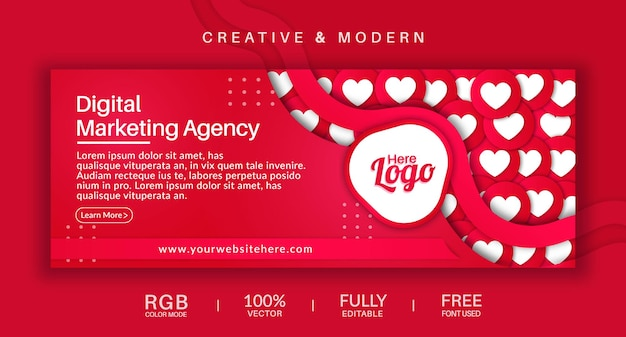 Social media cover and web banner vector template