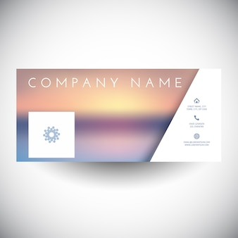 Social media cover with blurred landscape design