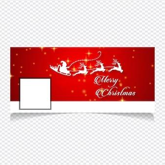 Social media cover with a christmas design