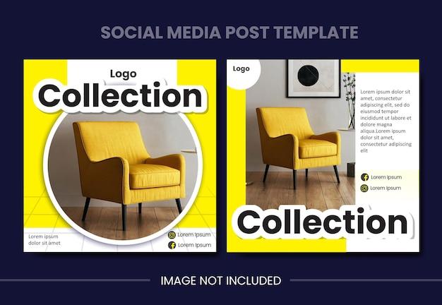 Social media design for furniture brand sale poster flyer brochure