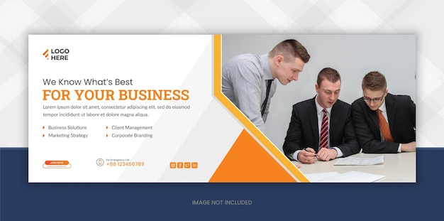Social media and digital marketing facebook cover page template