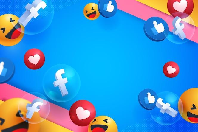 Sfondo di elementi di social media