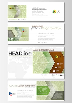 Social media and email headers set