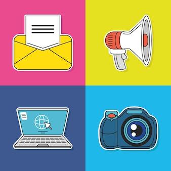 소셜 미디어 이메일 마케팅 사진