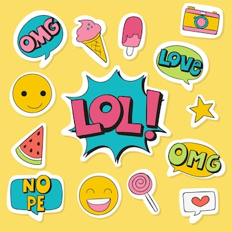 Social media emojis and stickers