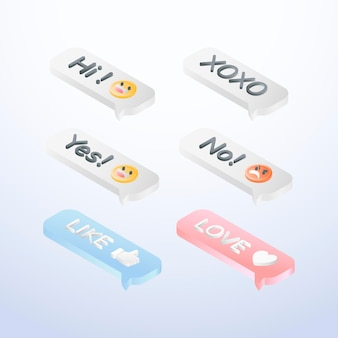Social media emoticons collection