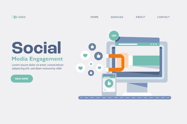소셜 미디어 참여