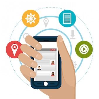 Social media entertainment graphic design