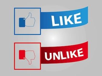Social media Facebook buttons vector