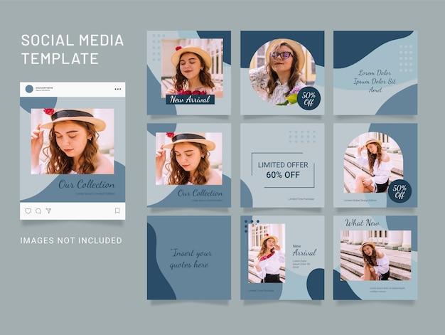 소셜 미디어 패션 여성 템플릿 퍼즐 피드