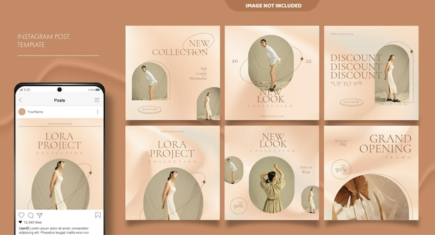 Social media feed post template for fashion business