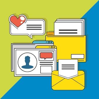 Social media file message website