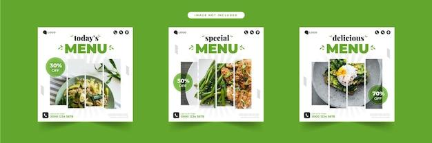 Шаблон еды в социальных сетях для ресторана
