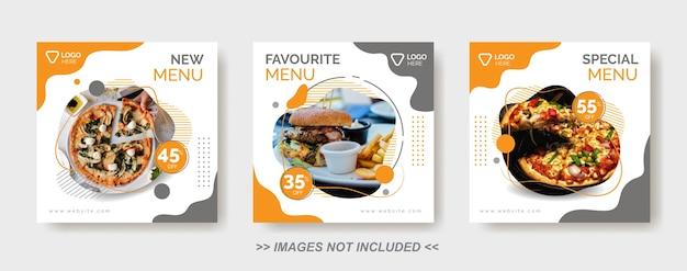 Social media food template, restaurant social media post template