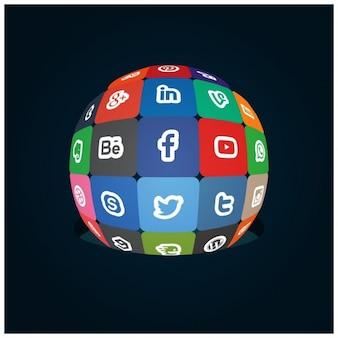 소셜 미디어 지구