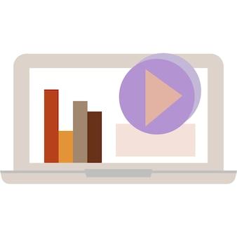 Социальные медиа значок бизнес на интернет вектор