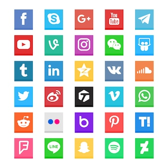 Social media icon collection
