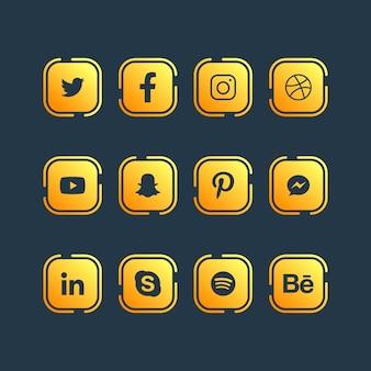 ソーシャルメディアのアイコンデザイン