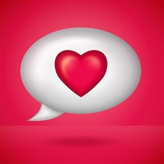 Значок соцсети уведомление сердце любовь, как в речи пузырь