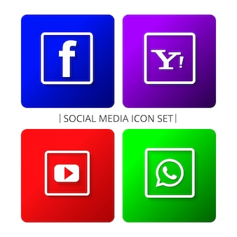 Set di icone colorate di social media