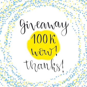 Social media icon. vector lettering with text giveaway
