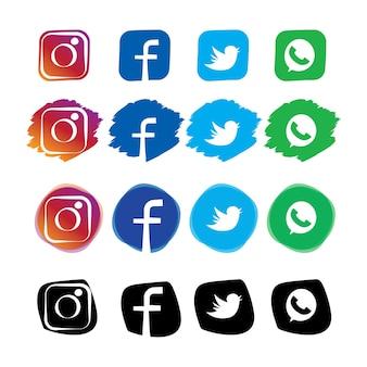 Social media icon Premium Vector