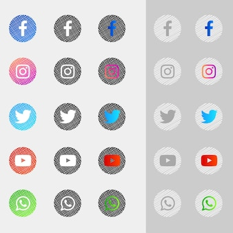Social media icons collection pack