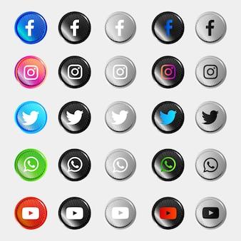 소셜 미디어 아이콘 모음