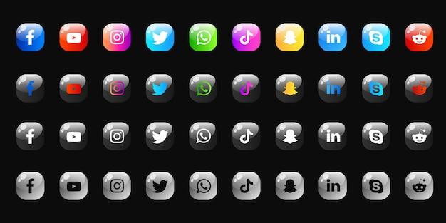 소셜 미디어 아이콘 모음 팩