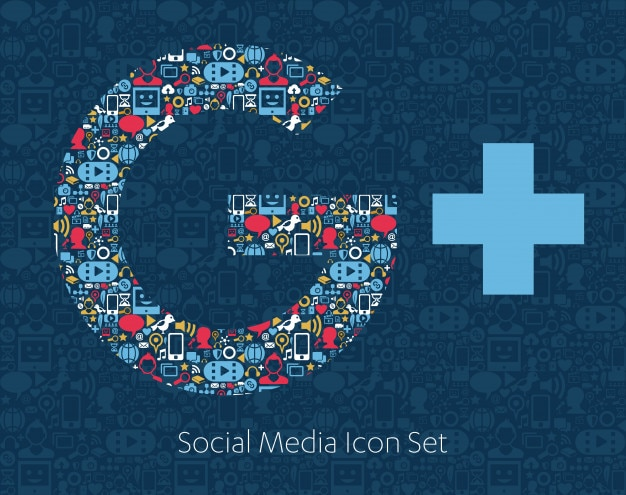Social media icons, network, computer concept.