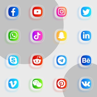 ソーシャルメディアアイコンパック