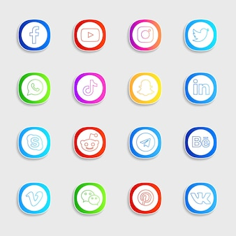 소셜 미디어 아이콘 팩
