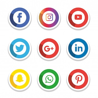 Social media icons set. Logo Illustrator. facebook, instagram, Whatsapp,
