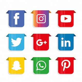 Social media icons set. logo
