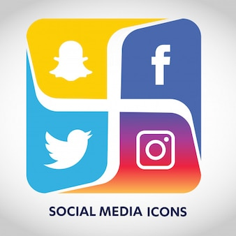 Social media icons set network background. smiley face. share, like, comment