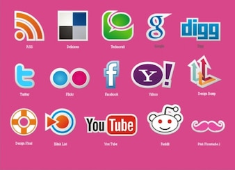 Social media icons vector pack