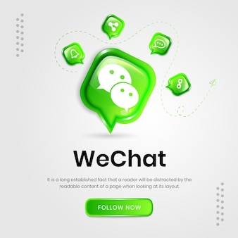 Social media icons wechat banner